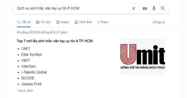 UMIT được bình chọn đơn vị làm STVT uy tín